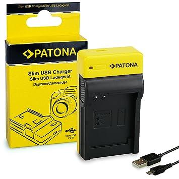 PATONA Estrecho Cargador de Batería para Canon NB-4L NB-5L Digital Ixus i Zoom i7 4.2V / 500mA Micro-USB Cable