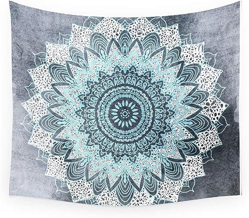 Society6 Wall Hanging Tapestry – Small 51 x 60 – Bohochic Mandala in Blue by Nika