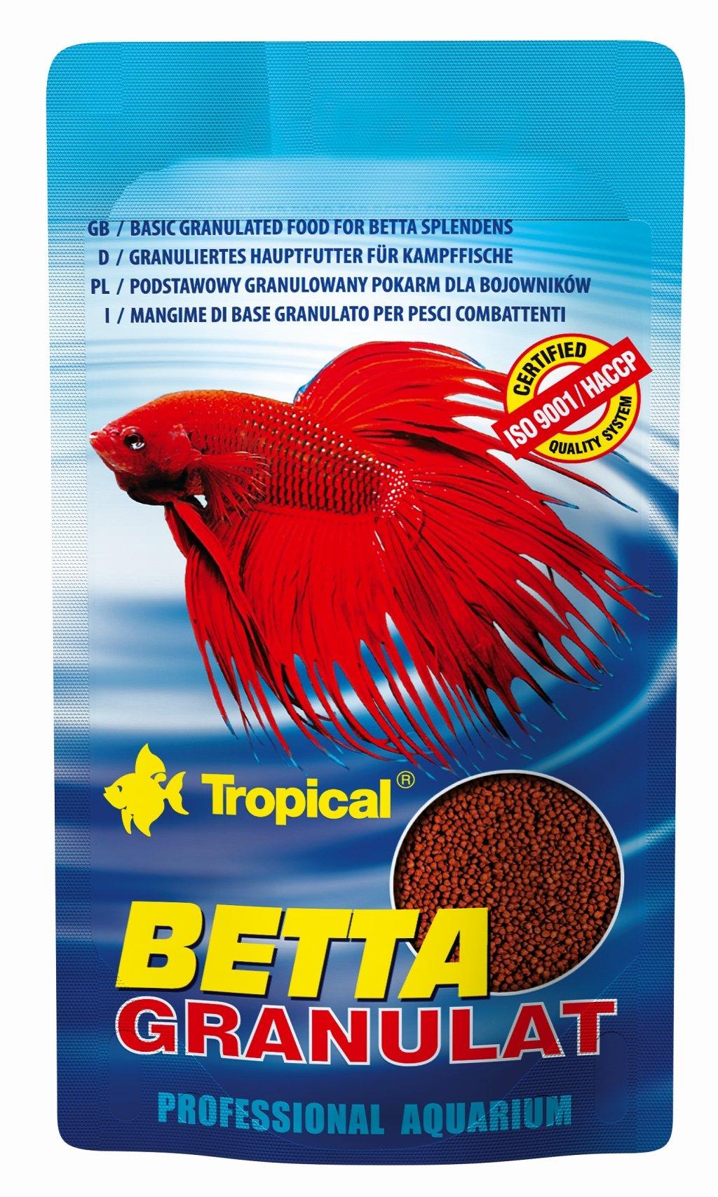 Tropical Betta Granulat - Basic Floating Granules For Betta Splenders 10g - Original Sachet