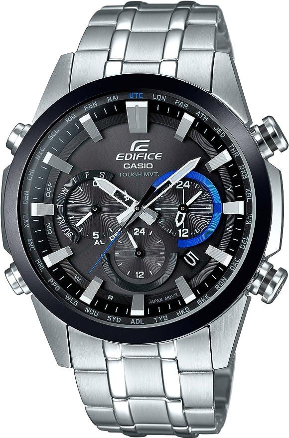 [カシオ] 腕時計 エディフィス 世界6局対応電波ソーラー EQW-T630DB-1AJF シルバー