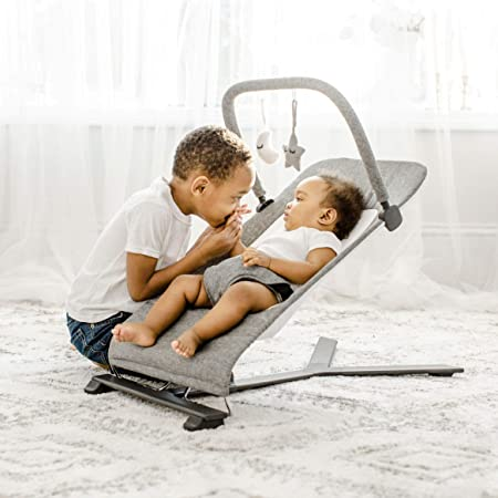 Charcoal Tweed Baby Delight Go with Me Alpine Deluxe Portable Bouncer