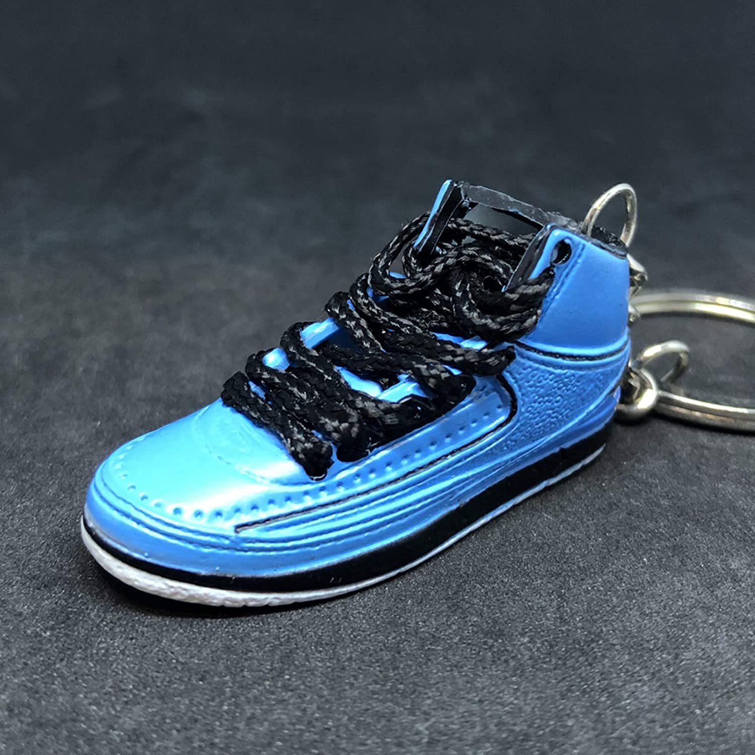 5e489ad5203 Amazon.com : Pair Air Jordan II 2 Retro University Blue UNC Candy Pack OG  Sneakers Shoes 3D Keychain 1:6 Figure : Everything Else