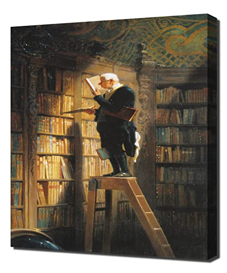 Carl Spitzweg - The Bookworm - Framed Canvas Art Print: Amazon.co.uk ...