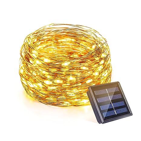 OMOTON Guirnalda Luces Exteriores Solares Guirnaldas Luminosas de Exterior Luz de Decoración Cadena de Luces Solares