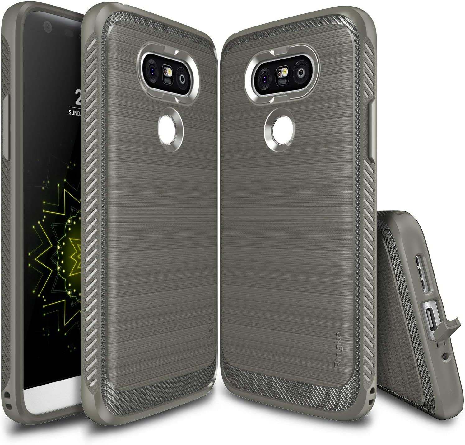 Ringke Onyx Compatible with LG G5 Case Resilient Strength Flexible Durability, Durable Anti-Slip, TPU Defensive Case for LG G5 2016 - Gray