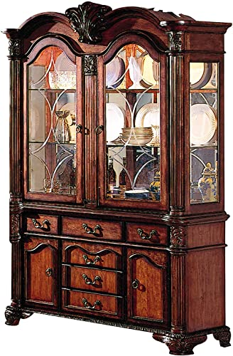 ACME Chateau de Ville Hutch and Buffet, Cherry Finish