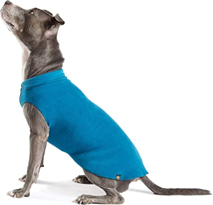 GoldPaw Stretch Duluth Double Fleece Pullover-Charcoal//Marine Blue-Size 18