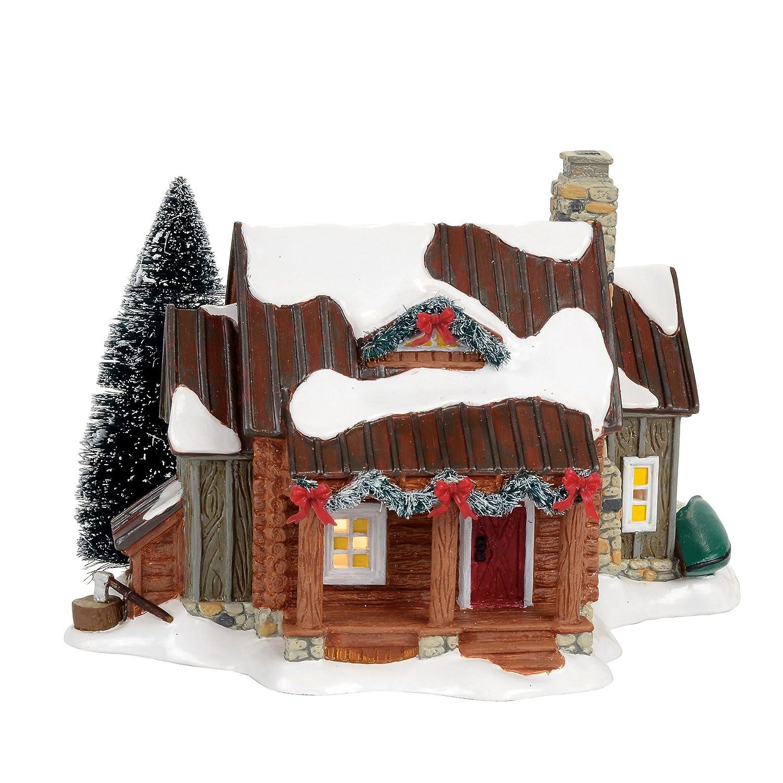Department 56 Snow Woody Retreat Village Lit Building, Multicolor 4056683