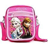 "Disney Frozen Elsa and Anna Medium 8"" Detachable Lanyard Messenger Shoulder Bag"