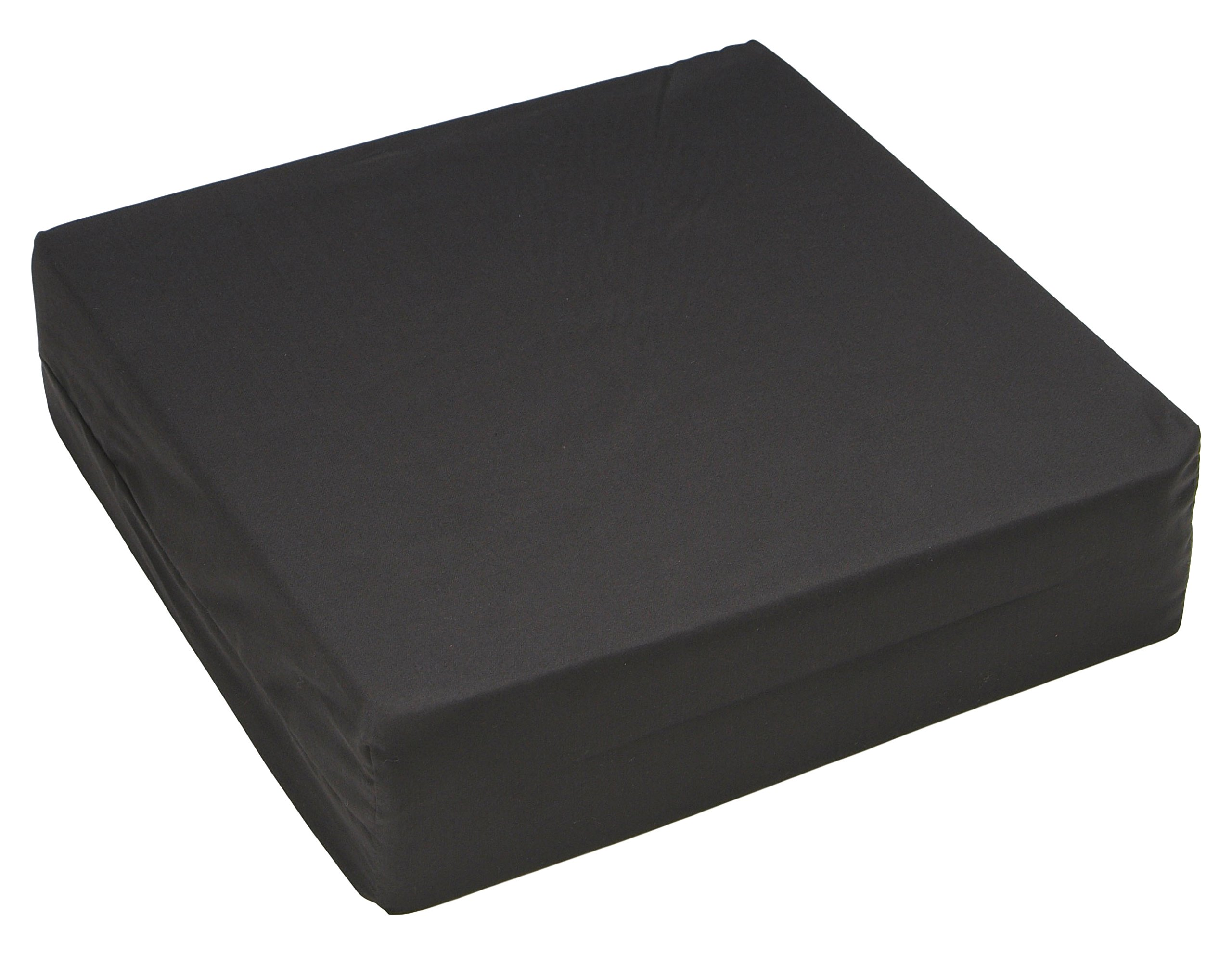 Hermell Products WC4440BK Wheelchair Cushion, 16 by 18 by 4-Inch, Black