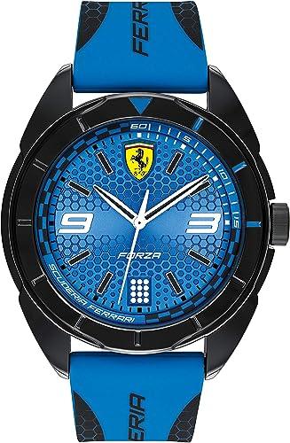 Ferrari Men S 0830518 Forza Analog Display Quartz Blue Watch Amazon Ca Watches
