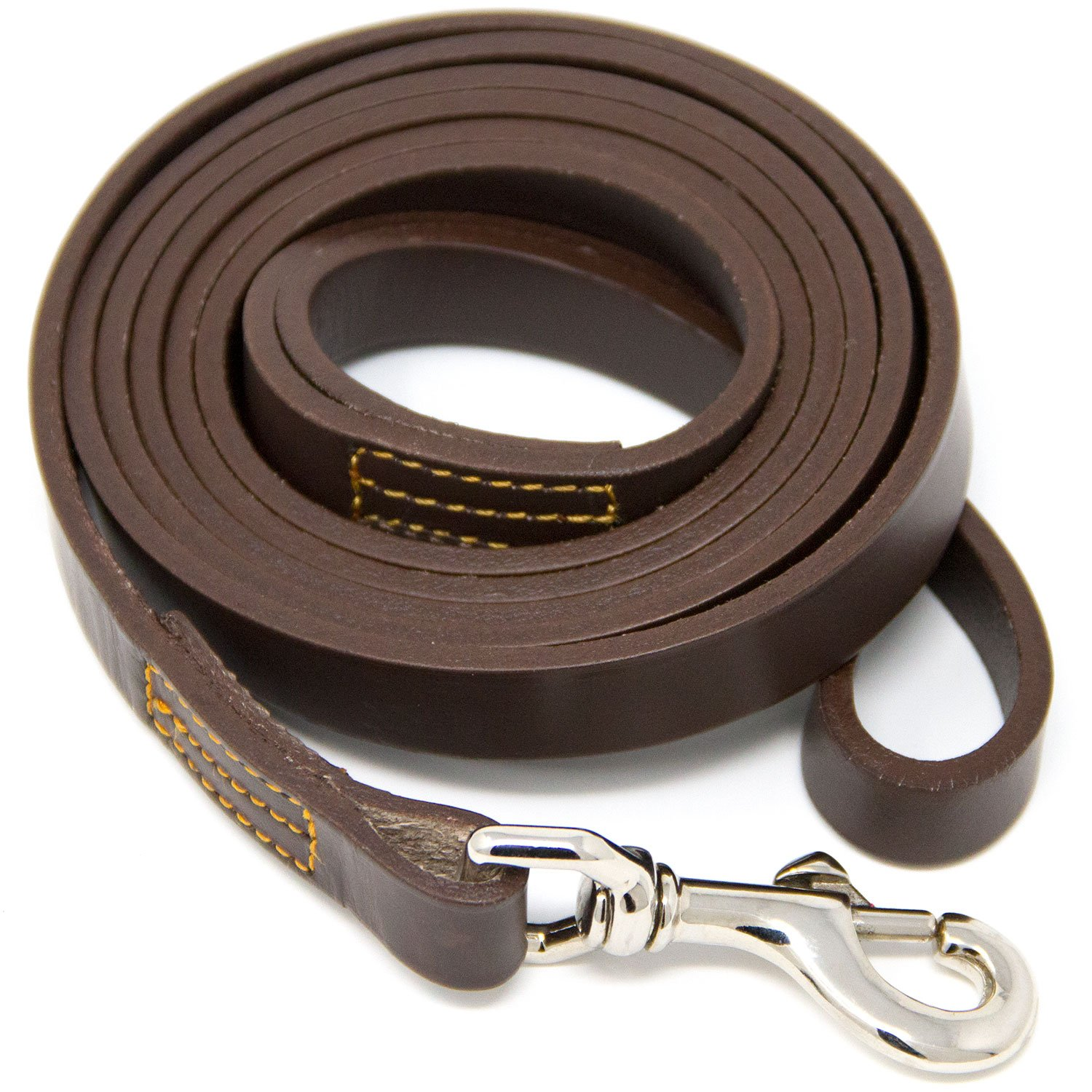 Hero Leather Genuine Full Grain Leather Training Leash - 6 Foot (Brown) by Hero Leather