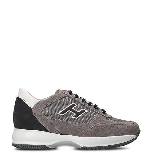Hogan Hombre HXM00N0Q102I9L413K Gris Gamuza Zapatillas: Amazon.es: Zapatos y complementos