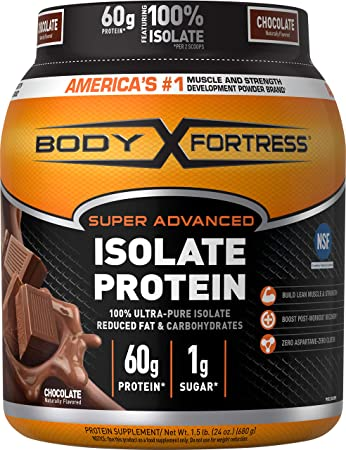 Image Unavailable. Image not available for. Color: Body Fortress Super Advanced Whey Protein Isolate ...