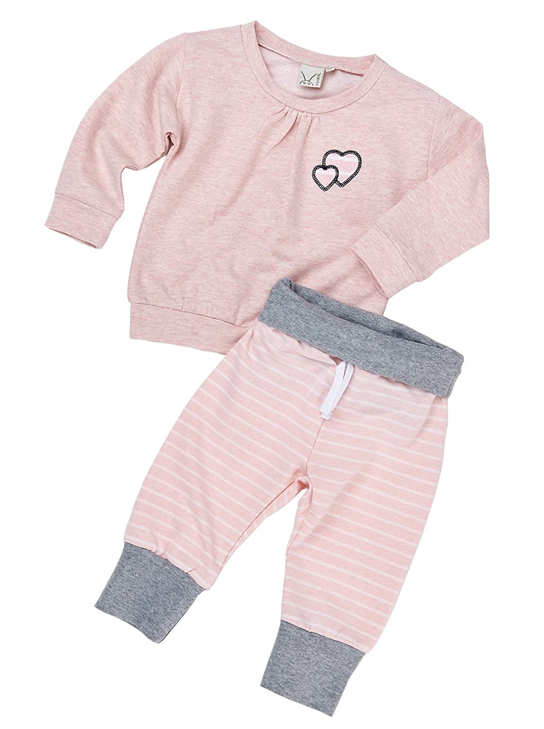 Girls 2-Piece Long Sleeve Pullover with Jogging Pant