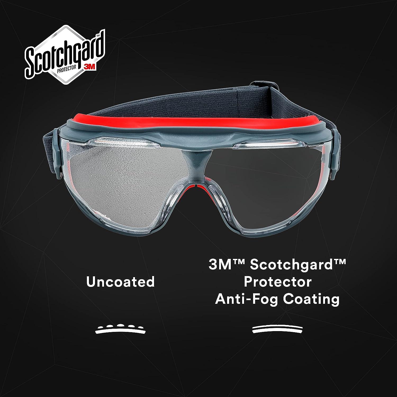 GOGGLEGEAR GG6002SGAF-BLK Protective Goggles,Gray Lens