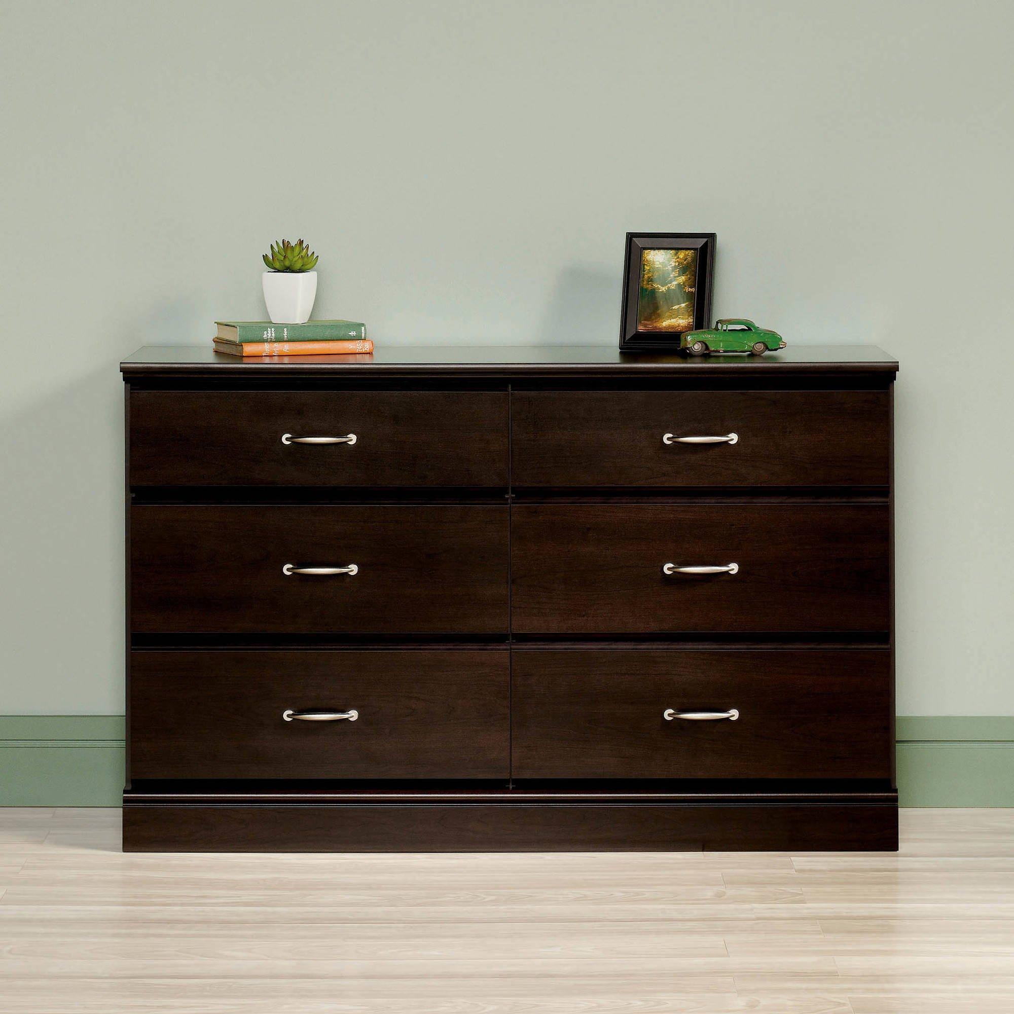 Mainstays Parklane 6-Drawer Dresser, Espresso Cinnamon Cherry