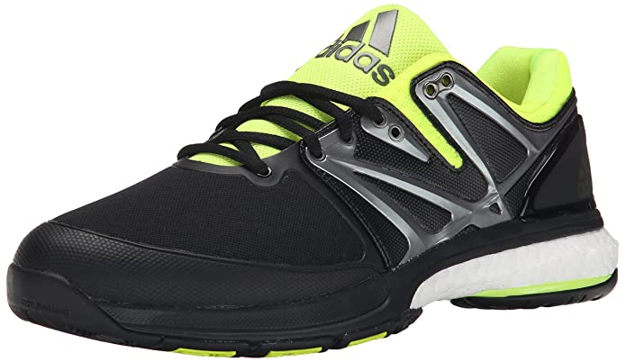 adidas Performance Men's Stabil Boost Volleyball, Black/Solar Yellow/White, 11.5 M US
