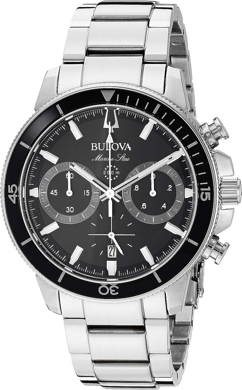 Bulova Men s 45mm Marine Star Stainless Steel Chronograph Bracelet Watch