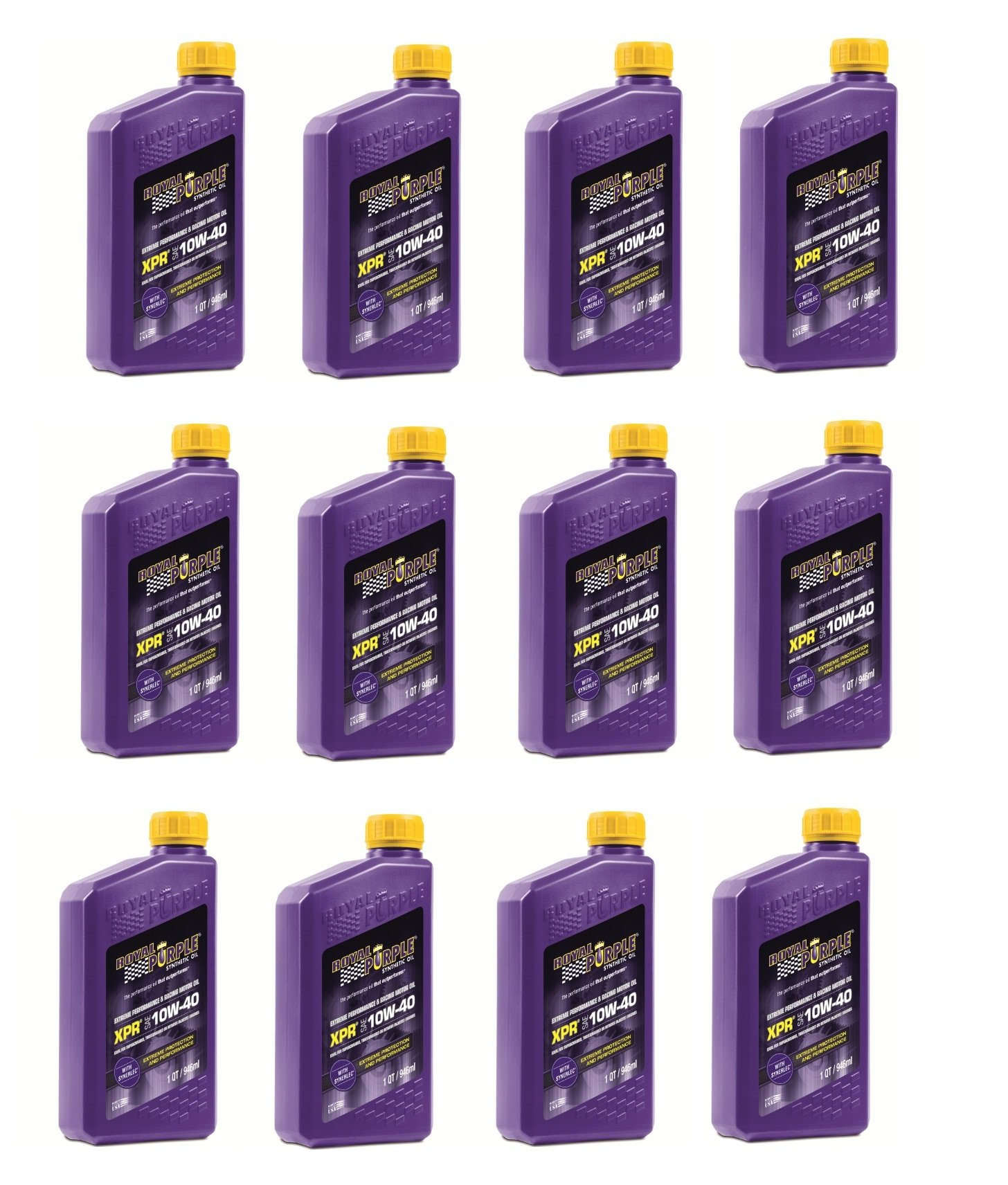 Royal Purple 12041 XPR 10W-40 Extreme Performance Synthetic Racing Motor Oil - 1 qt. (Case of 12) by Royal Purple