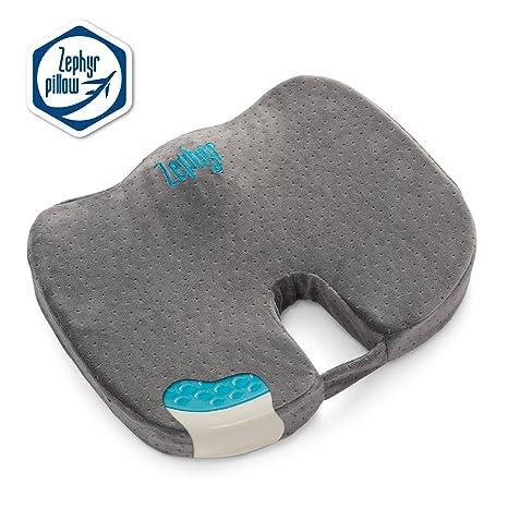 amazon com tailbone lumbar support memory foam seat cushion for
