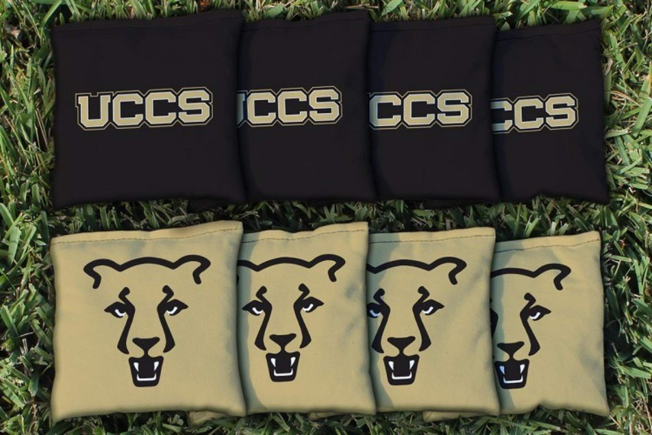 Victory Tailgate NCAA Collegiate Regulation Cornhole Game Bag Set (8 Bags Included, Corn-Filled) - Colorado Springs UCCS Mountain Lions by Victory Tailgate