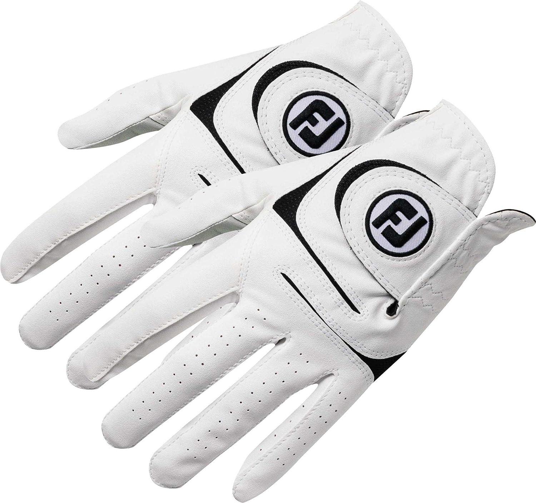 New FootJoy WeatherSof Mens Golf Gloves 2 Pack Medium Large, Worn on Left Hand