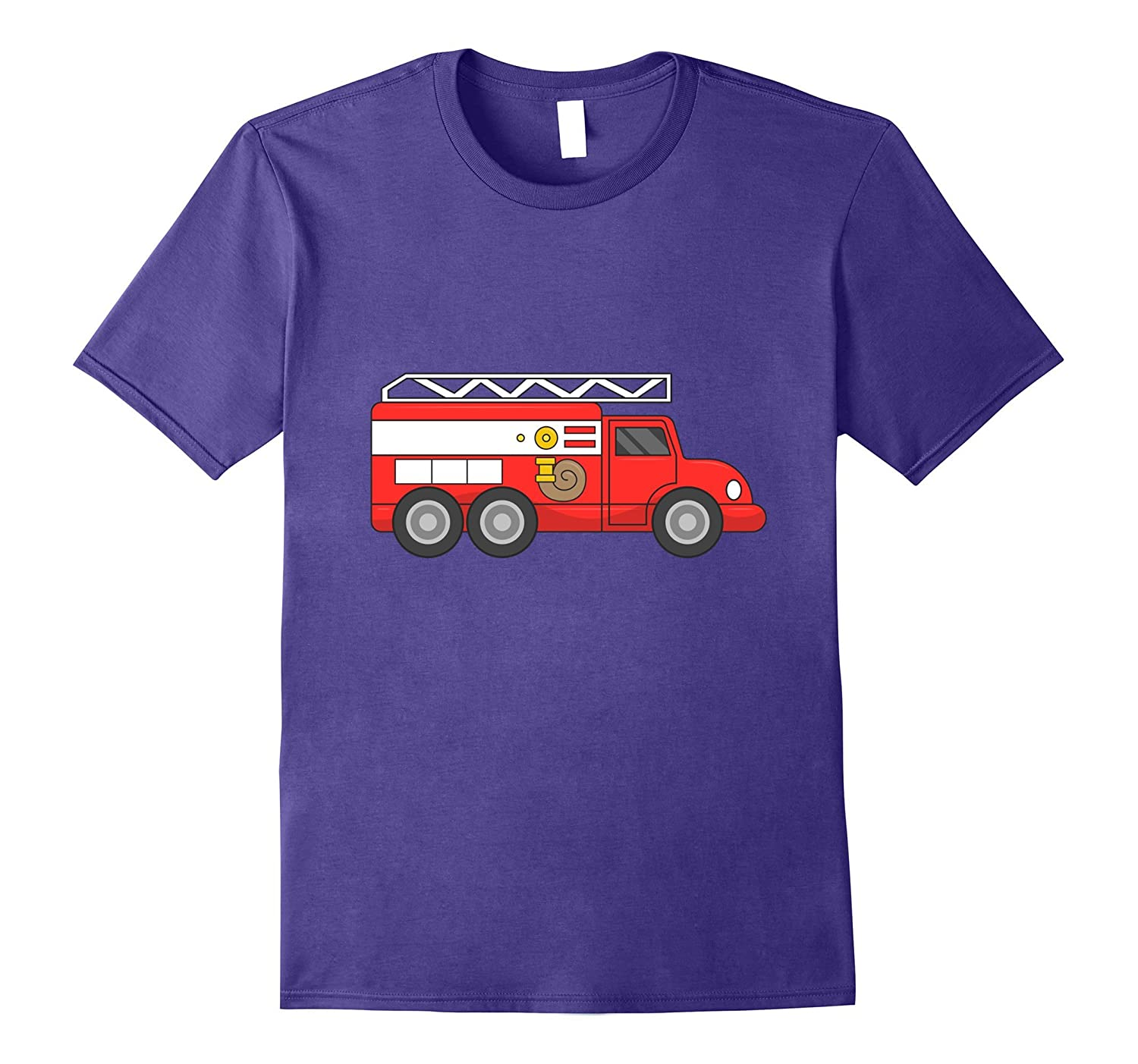 Fire Truck Halloween Costume Firefighter Fireman T-Shirt-T-Shirt