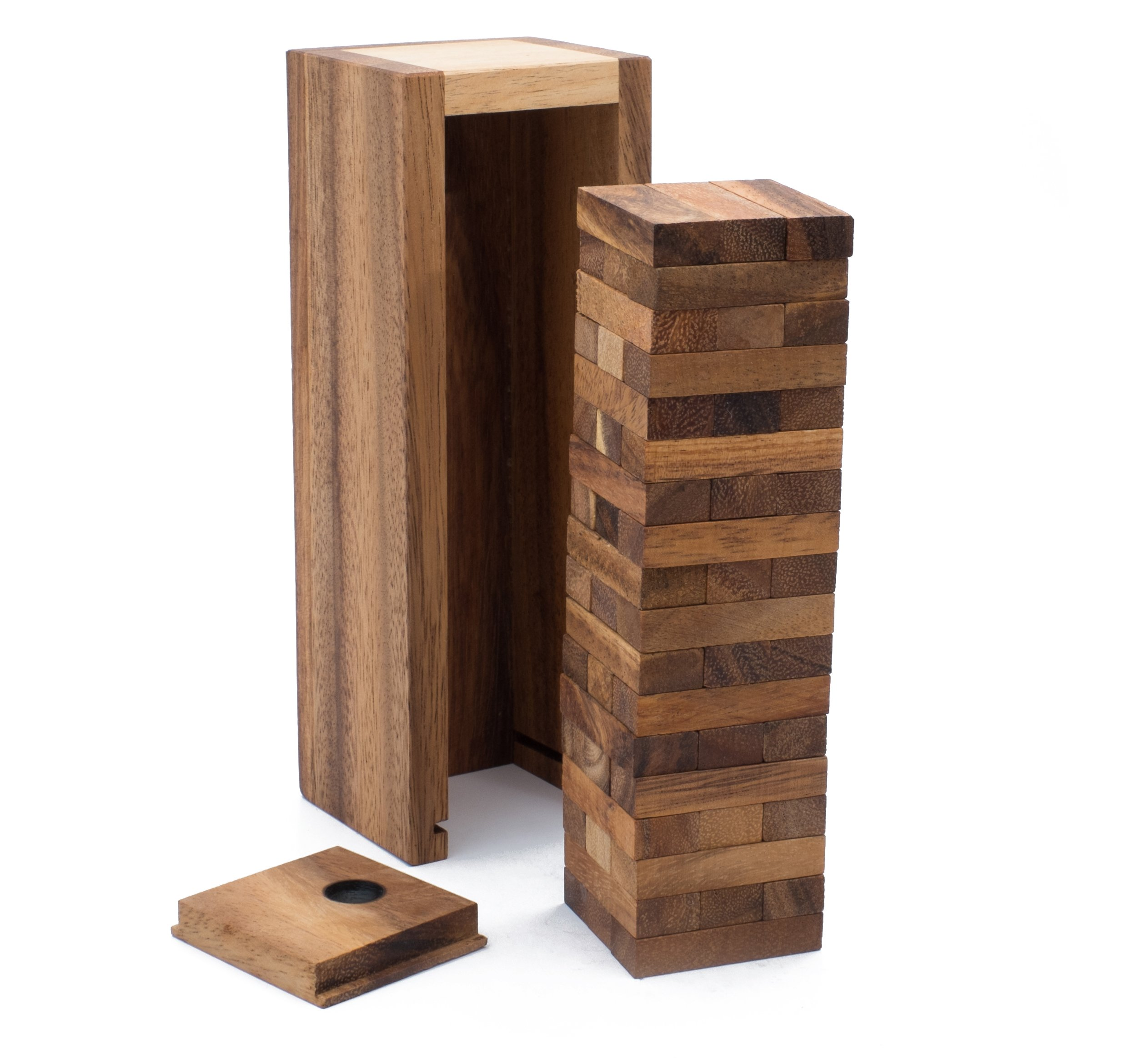 Wooden High Rise Condo: Tumbling Tower Stack Handmade & Organic Traditional Wood Game for Adults from SiamMandalay with SM Gift Box(Pictured)