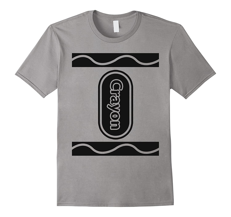 Gray Silver Crayon Box Group Costume Halloween T-Shirt-T-Shirt