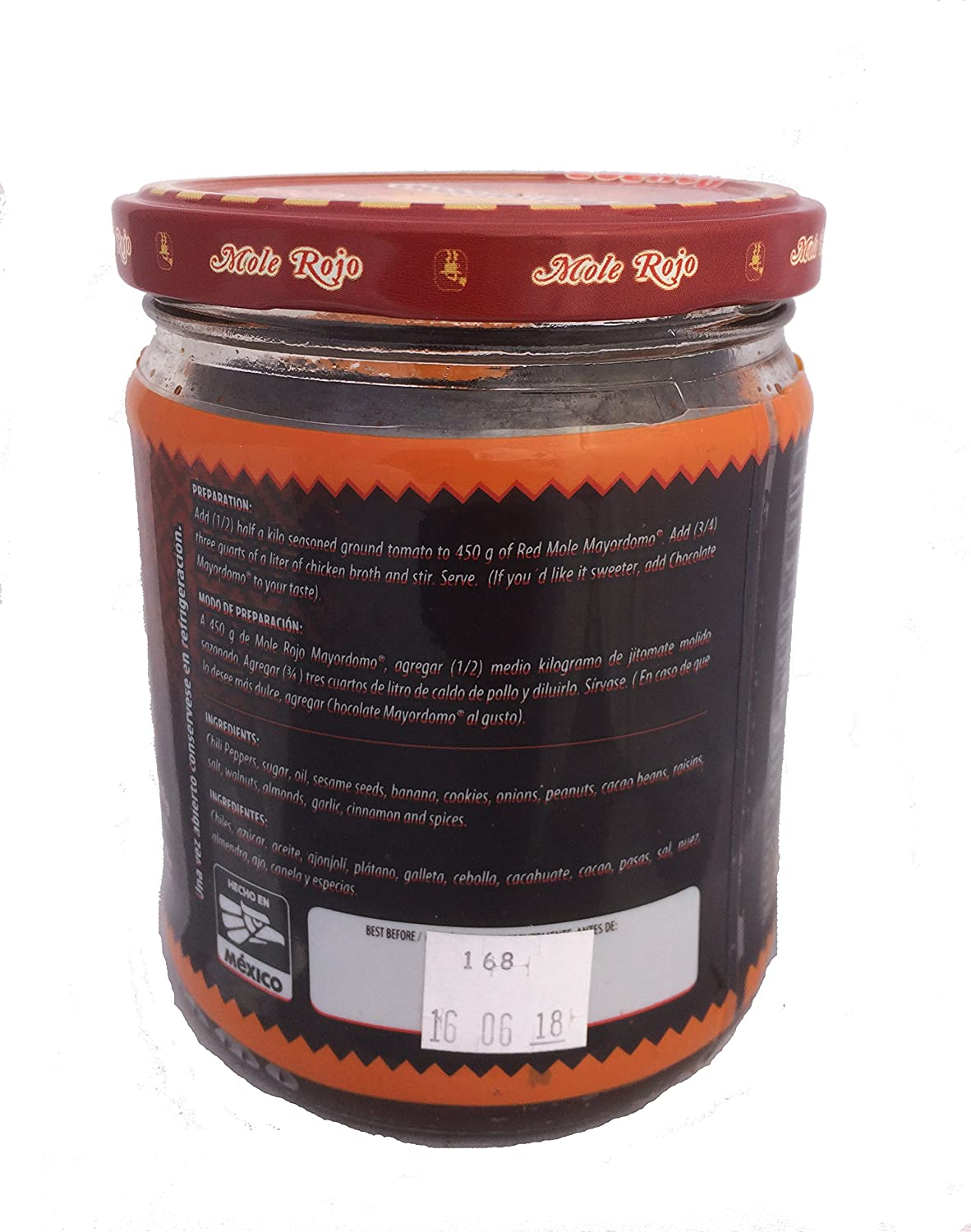 Amazon.com : Mole Rojo Mayordomo 450 gr (Red Mole) : Grocery & Gourmet Food