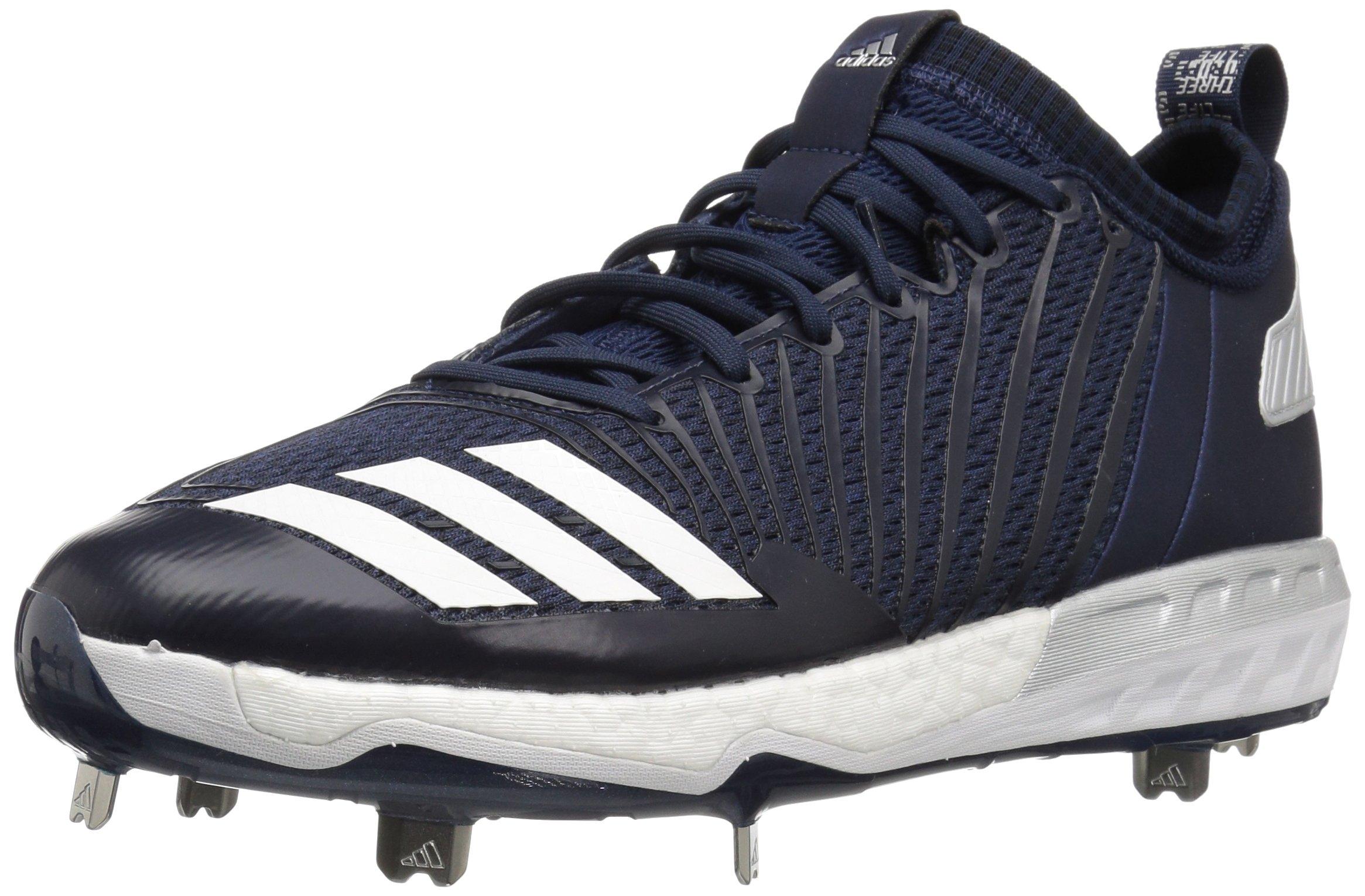 adidas Men's Freak X Carbon Mid Baseball Shoe, Collegiate Navy/White/Metallic Silver, 8 Medium US by adidas (Image #1)