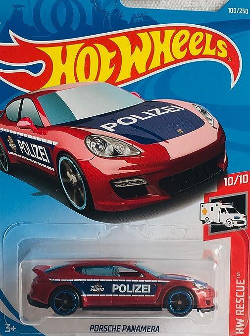 "#100 Porsche Panamera UK Card Hot Wheels Black /& White /""Polizei/"""