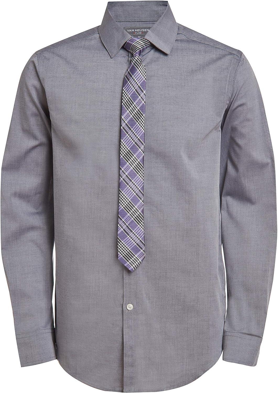 Van Heusen Boys' Long Sleeve Dress Shirt and Tie Set
