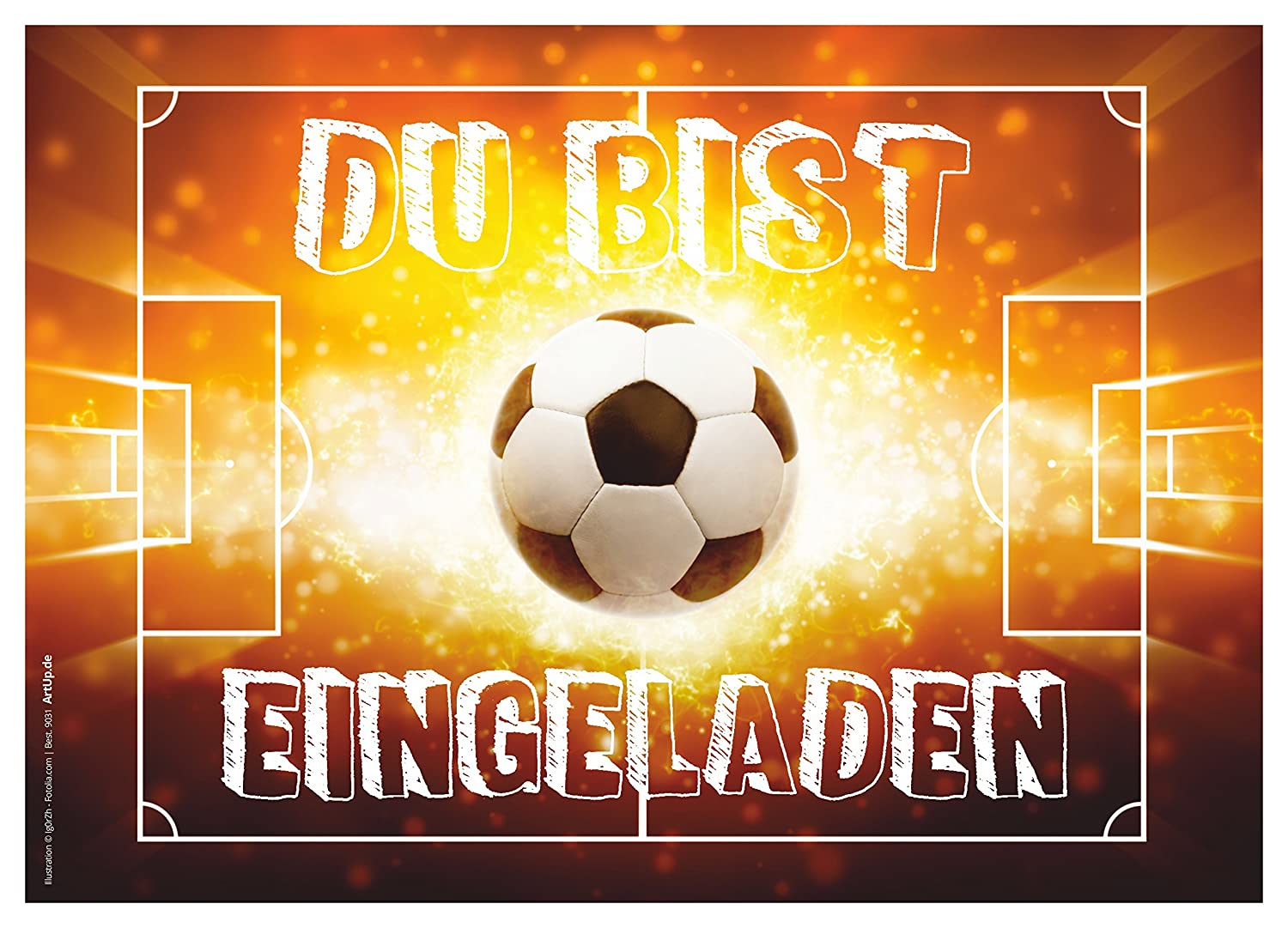 12 einladungskarten kindergeburtstag jungen fussball geburtstag jungs geburtstagseinladungen. Black Bedroom Furniture Sets. Home Design Ideas