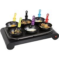 Domoclip DOM200 Set mini woks, crêpière et gril, 1000 W, Noir