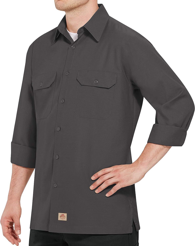 Red Kap Men's RK Solid Rip Stop Shirt: Clothing