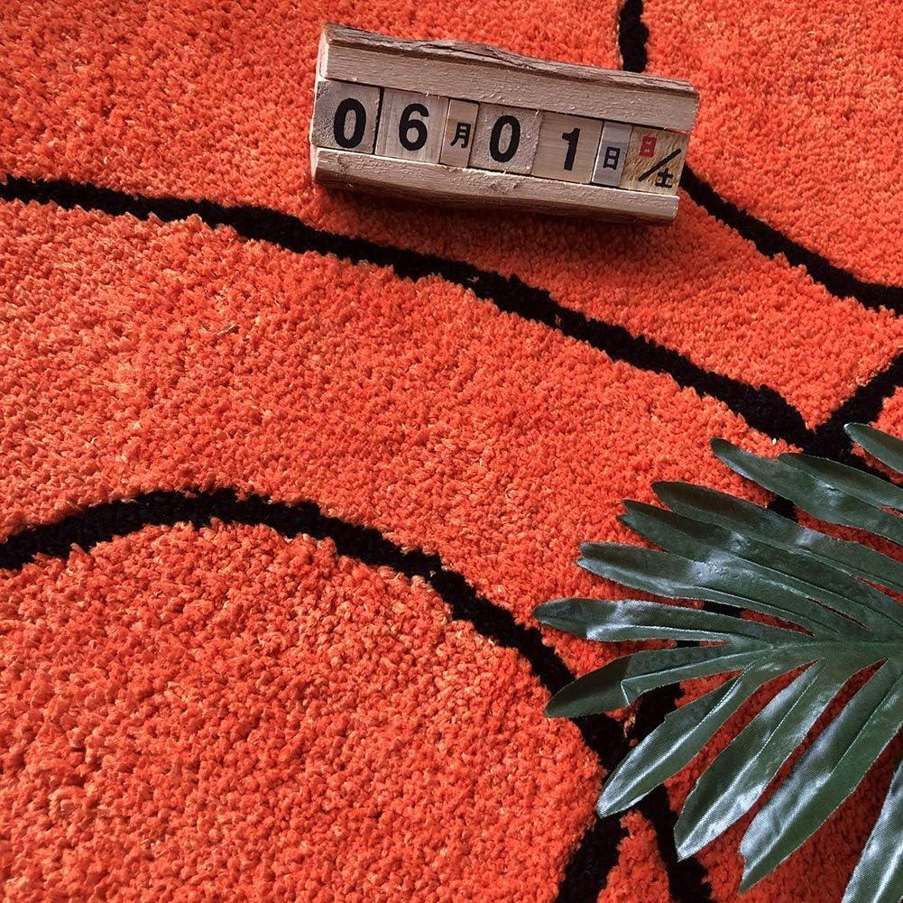 Non slip Carpet YIKUI SoftKids Rug Basketball Round Rug Carpet Floor Chair Mat for Kids Rooms Childrens Bedroom Basketball, 80cm