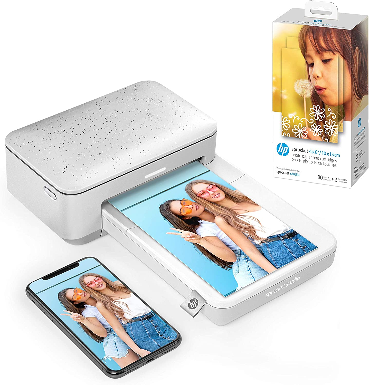 """HP Sprocket Studio 4x6"""" Instant Photo Printer – Print Photos from Your iOS, Android Devices & Social Media with HP Sprocket Studio 4x6"""