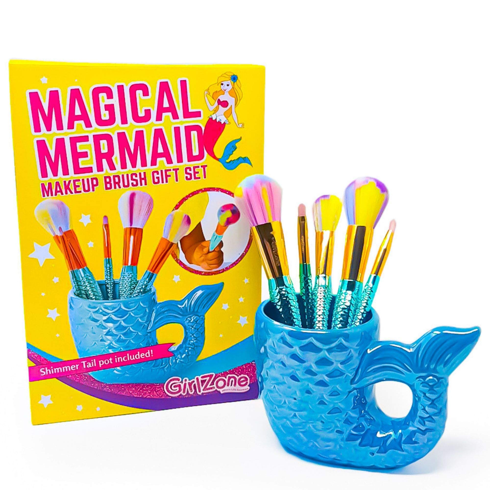 Birthday Gifts for Girls: Girls Makeup Kit Set, Fun Mermaid Makeup Brushes, Girls Gifts, Mermaid Gifts for Girls by GirlZone