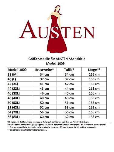 Austen L/änge ca. 165cm 1009 Sophia Abendkleid 1tlg Schwarz Gr.38-56