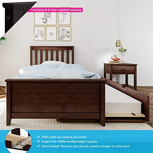 Max Lily Solid Wood Twin-Size Bed