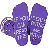 Saucey Socks Bring Me Wine Socks Please (Medium) Women