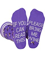 Saucey Socks - Bring Me Wine Beer Socks for Men and Women, Luxury Cotton with Cool Designs! Give the perfect gift!