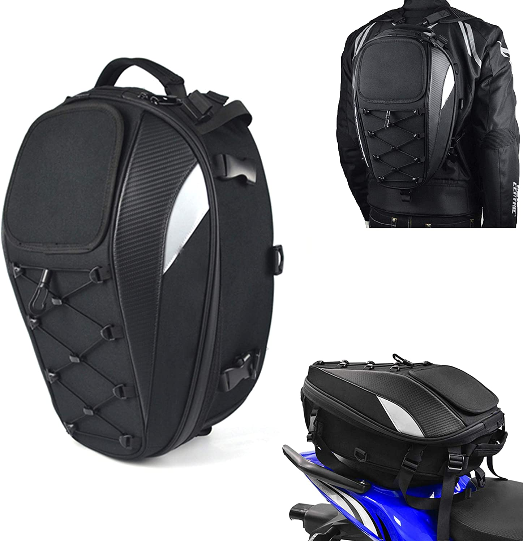 Bolsa de Asiento para Motocicleta, Doble Uso, Impermeable, Bolsa de Almacenamiento para Maletas y Casco