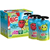 GoGo Big squeeZ Variety Pack (Apple Apple/Apple Raspberry Strawberry Vanilla), 4.2 Ounce (20 Pouches), Bigger Than…