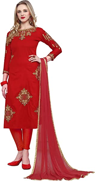 bd8fec37bc Image Unavailable. Image not available for. Colour: Vaidehi Fashion Women's Cotton  Embroidery ...
