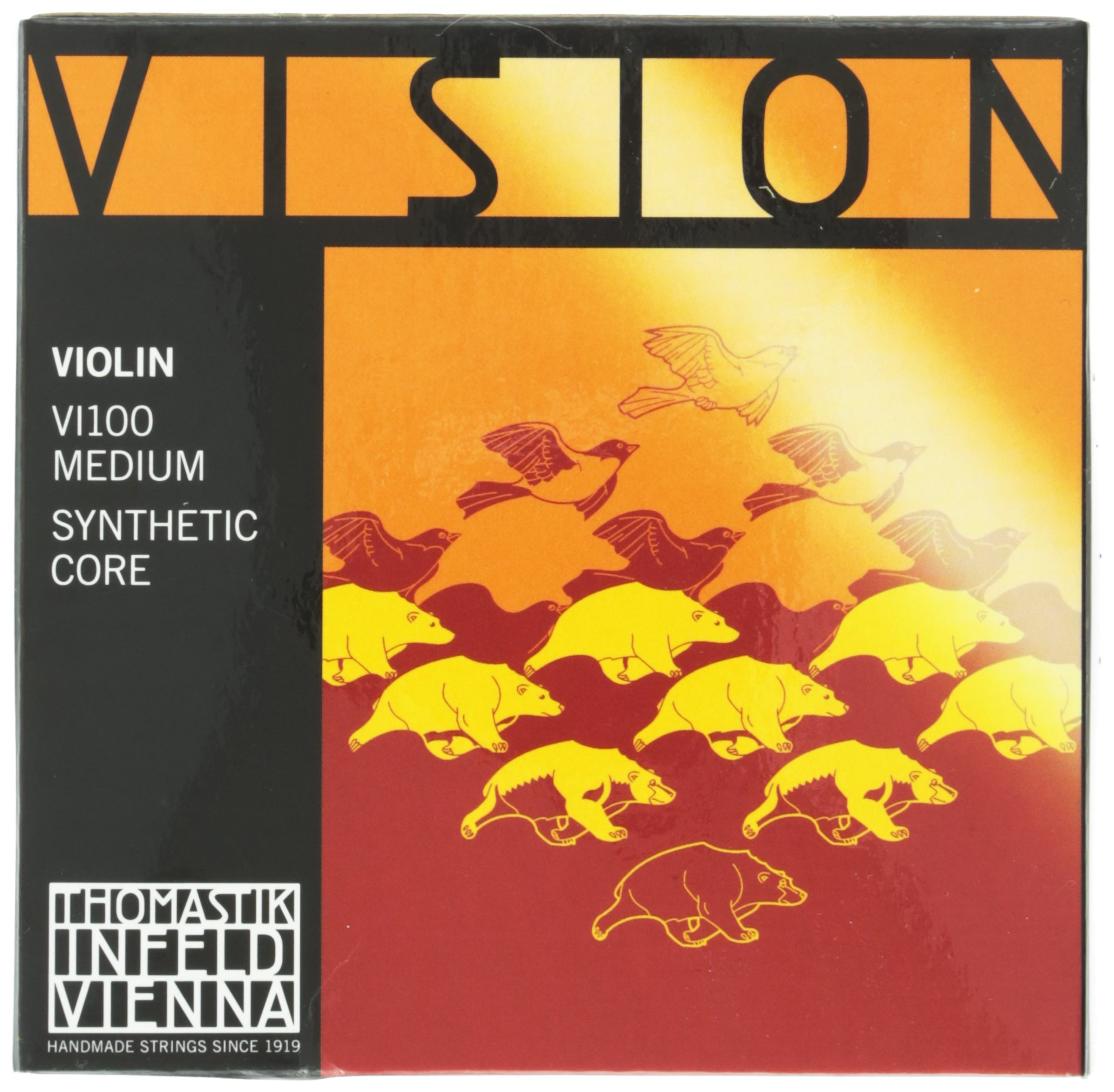 Thomastik-Infeld VI100 Vision Violin Strings, Complete Set, 4/4 Size