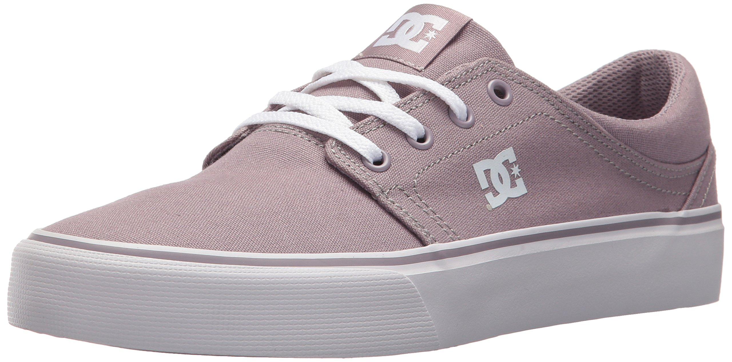 DC Women's Trase TX Skate Shoe, Purple Rain, 7.5 B US