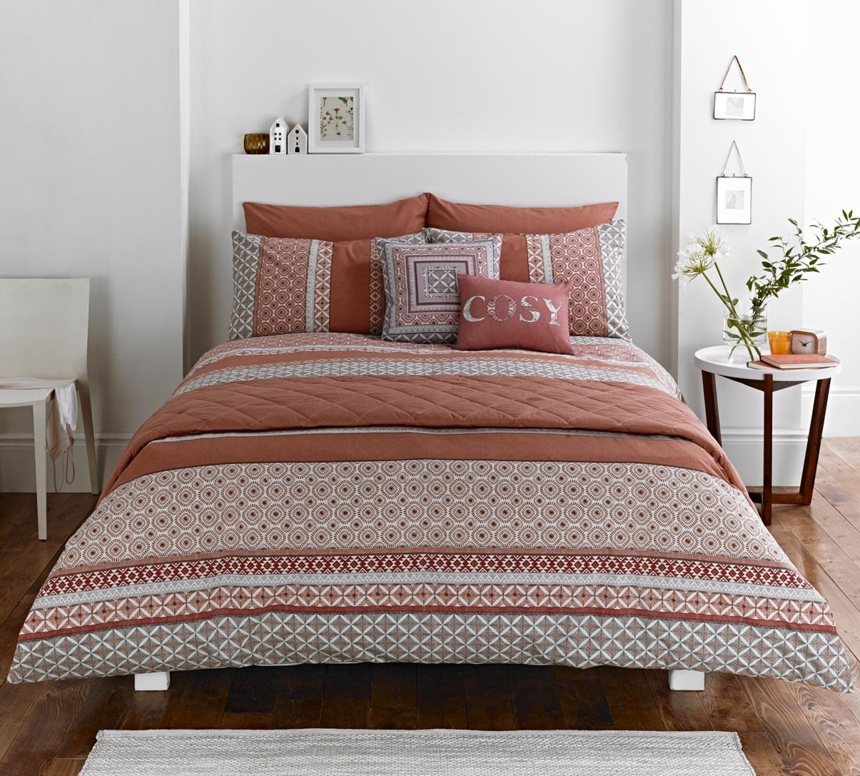 light white bedroom duvet grey pin l bohemian aztec and cover copper quilt